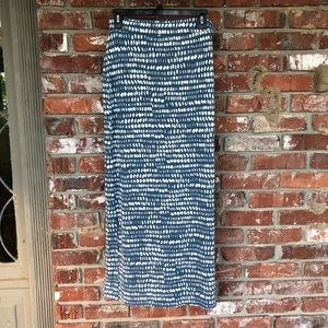 Ann Taylor Loft blue and white maxi skirt sz S